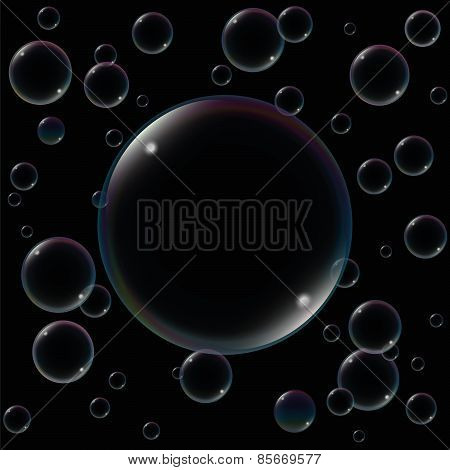 Big Soap Bubble Black