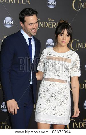 LOS ANGELES - MAR 1: Brett Dalton, Chloe Bennet at the World Premiere of 'Cinderella' at the El Capitan Theater on March 1, 2015 in Hollywood, Los Angeles, California
