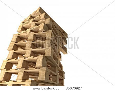 3d image of classic wood pallet
