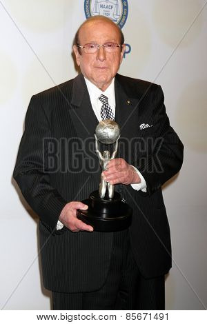 LOS ANGELES - FEB 6:  Clive Davis at the 46th NAACP Image Awards Press Room at a Pasadena Convention Center on February 6, 2015 in Pasadena, CA