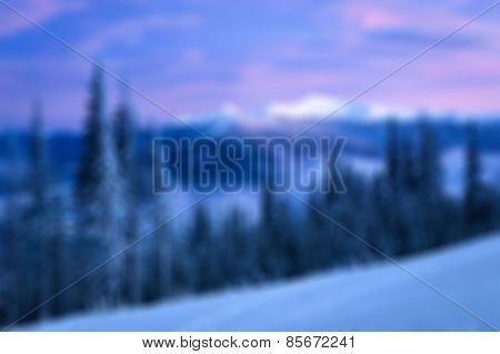 Blurry Mountains Background