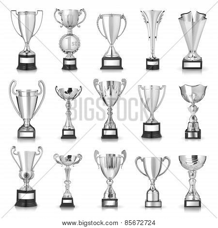 Set Of Silver Trophies