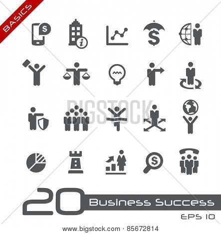 Business Icon Set // Basics
