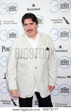 LOS ANGELES - FEB 21:  Alfred Molina at the 30th Film Independent Spirit Awards at a tent on the beach on February 21, 2015 in Santa Monica, CA