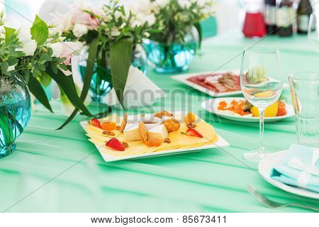 Party Cheese Board On A Table