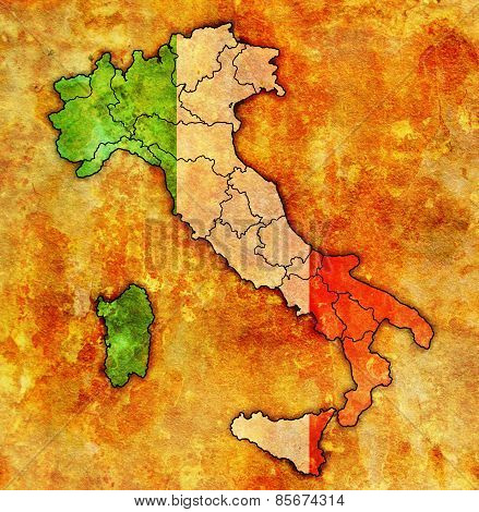 Map Of Italy With Administrative Divisions