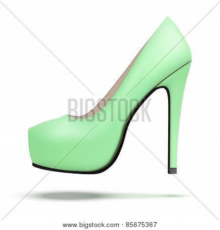 Mint vintage high heels pump shoes