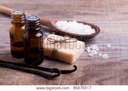 Spa Still Life On The Wooden Background