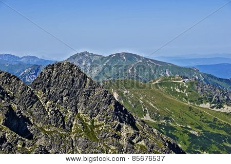 View Of The Peak  And Kasprowy In The Polish Tatras