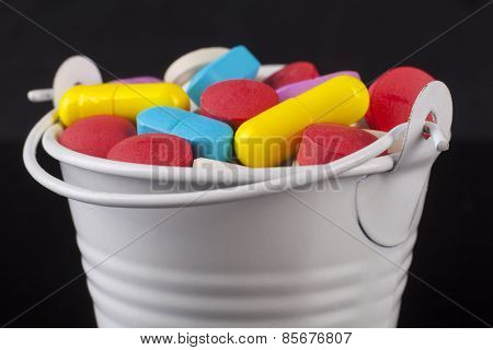 Colored Pills Bucket
