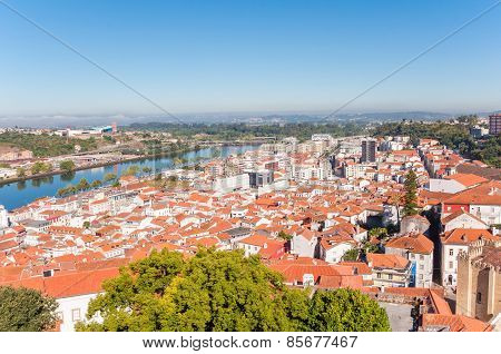 Cityscape Over The Roofs Of Coimbra In Portugal