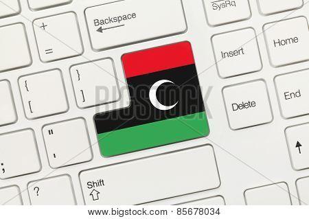 White Conceptual Keyboard - Libya (key With Flag)
