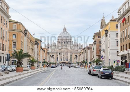 Rome, Italy - January 27, 2010: Saint Peter's Basilica