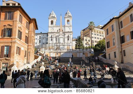 Rome, Italy - January 22, 2010: Spanish Steps