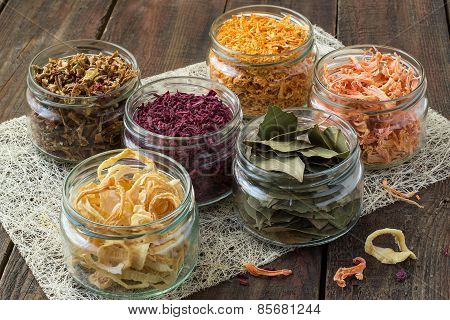 Dried Vegetables In Banks