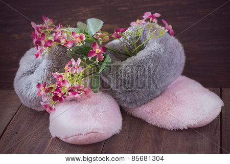 Fur Boots And Flowers