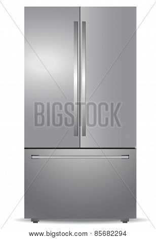 Steel french door refrigerator
