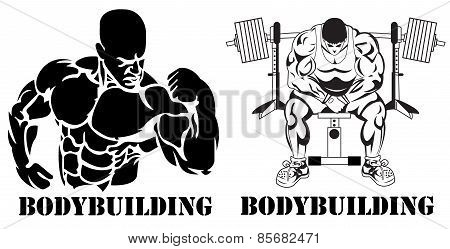 Bodybuilding, power lifting, concept