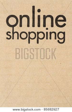 Online Shopping On  Corrugate Box : Texture Background