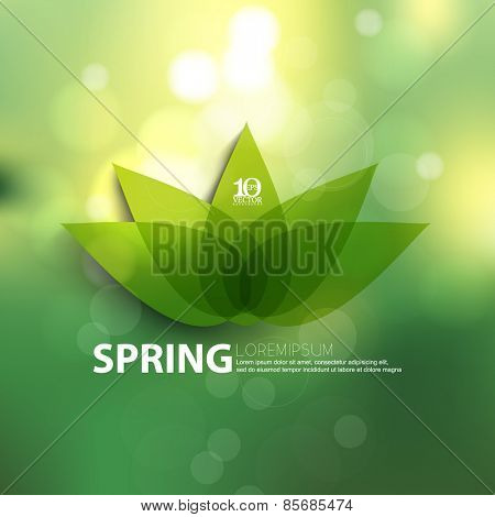 eps10 vector lotus flower blossom spring season beautiful sunlight bokeh nature ecology background