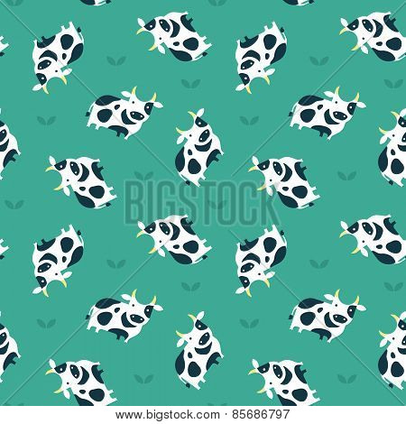vector cow pattern
