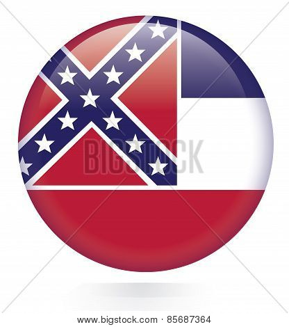 Mississippi flag button