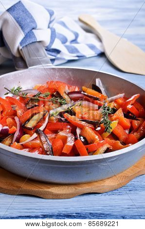 The Vegetables In The Pan