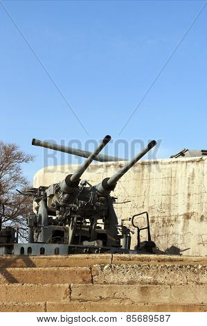 artillery guns of the fortress of Vladivostok
