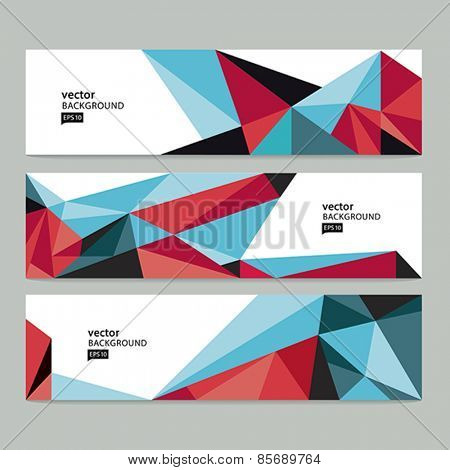 Vector abstract background. Abstract header set