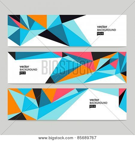 Abstract vector background. Abstract header set