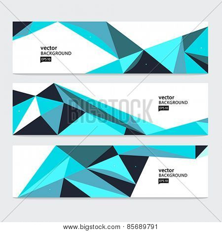 Abstract header set, vector abstract background.