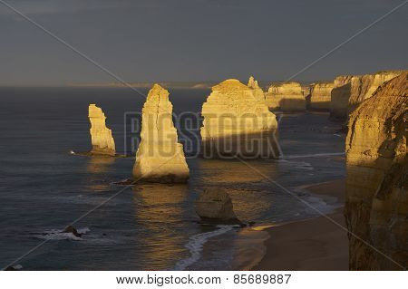 Twelve Apostles At Sunrise