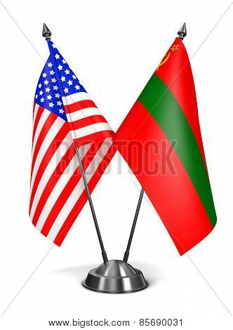 USA and Transnistria - Miniature Flags.