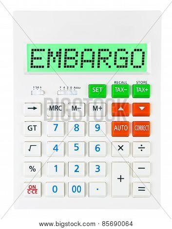 Calculator With Embargo