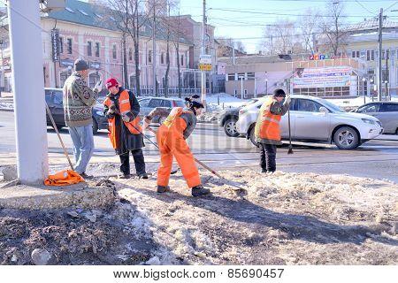 Nizhniy Novgorod. Clearance Snow