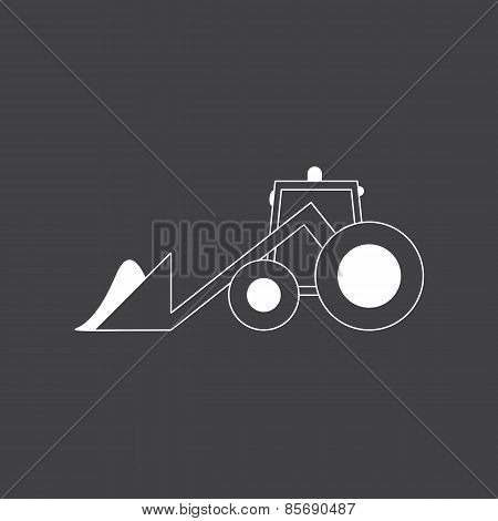 Tractor And Snowdrift