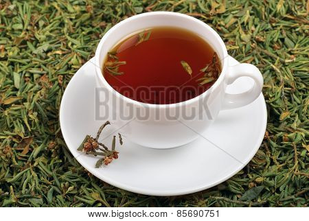 A Cup Of Tea With The Addition Of Herb Rhododendron Adamsii