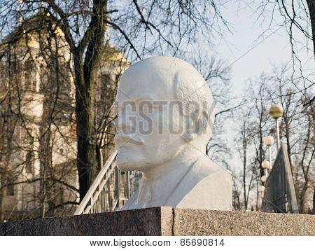 Bust of Lenin in a park in Zvenigorod