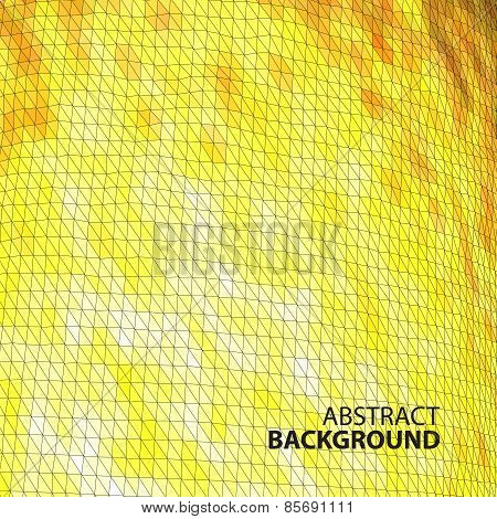 Abstract Background Of Yellow Triangles With Place For Text