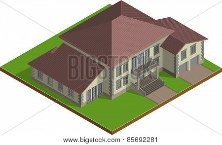 Cottage,  Estate isometric