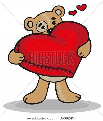 Teddy Bear With Big Heart