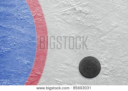 Goalmouth And Hockey Puck