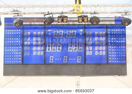 Closeup Electronic scoreboard