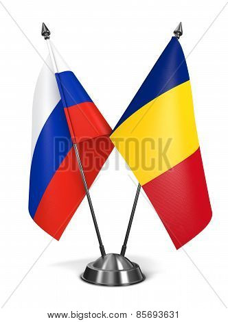 Russia and Romania - Miniature Flags.