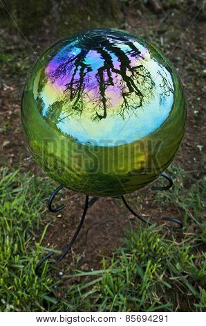 Gazing Ball with tree reflection