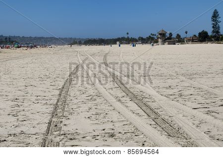 Track on the sand