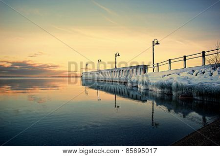 Icy Dock In The Sunset