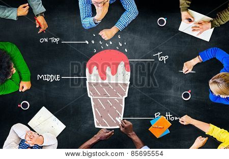 Ice Cream Command Order Leadership Concept