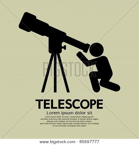 Telescope Graphic Symbol.