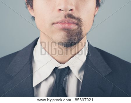 Businessman With Half Shaved Beard